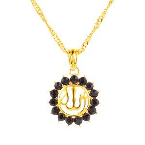 Image 4 - Арабские женщины, мусульманский религиозный Бог, Бог, стразы, камень на день рождения, ожерелье, ювелирные изделия