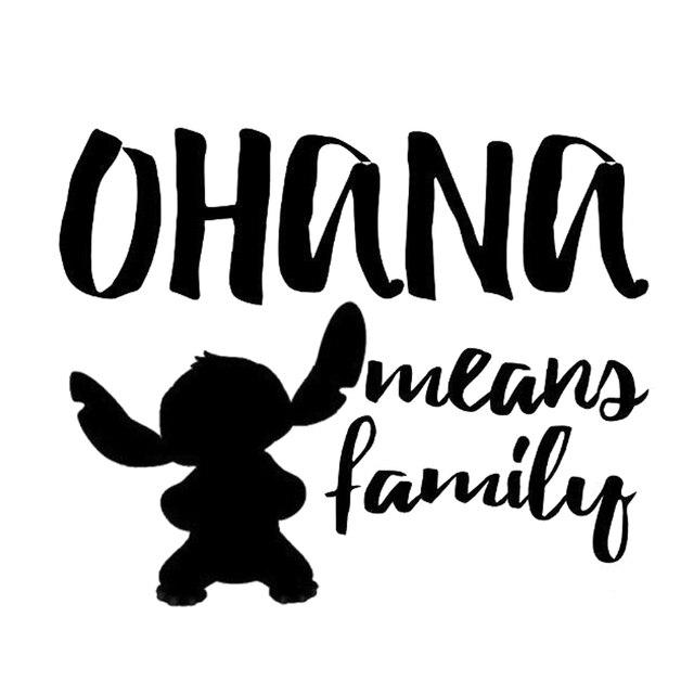 Cm Ohana Significa Pegatina De Coche Familiar Motocicleta Vinilo Calcomania