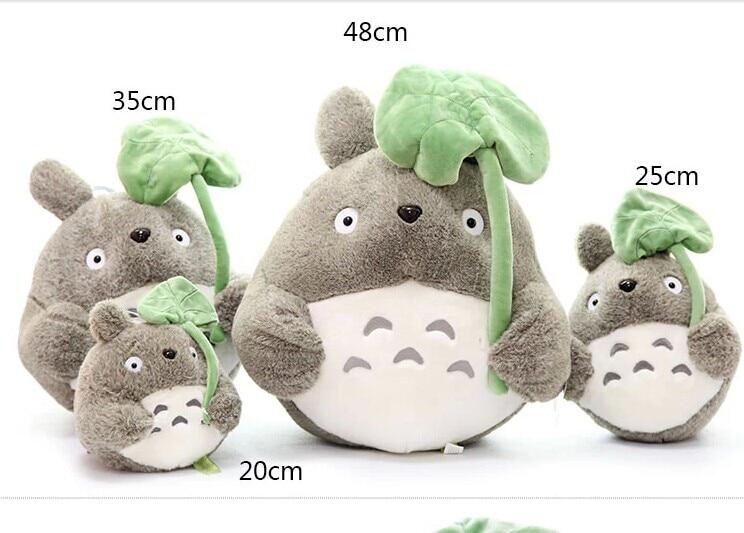 large 45cm anime totoro doll ,lotus leaf totoro plush toy throw pillow , birthday gift w8808 stuffed animal prone dog plush toy about 85 cm soft doll throw pillow t7790