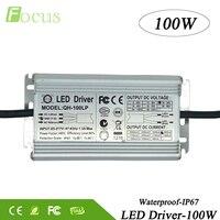 High Power 100W LED Driver IP67 Waterproof 100 W Watt Transformers 85 265V 3000mA For COB