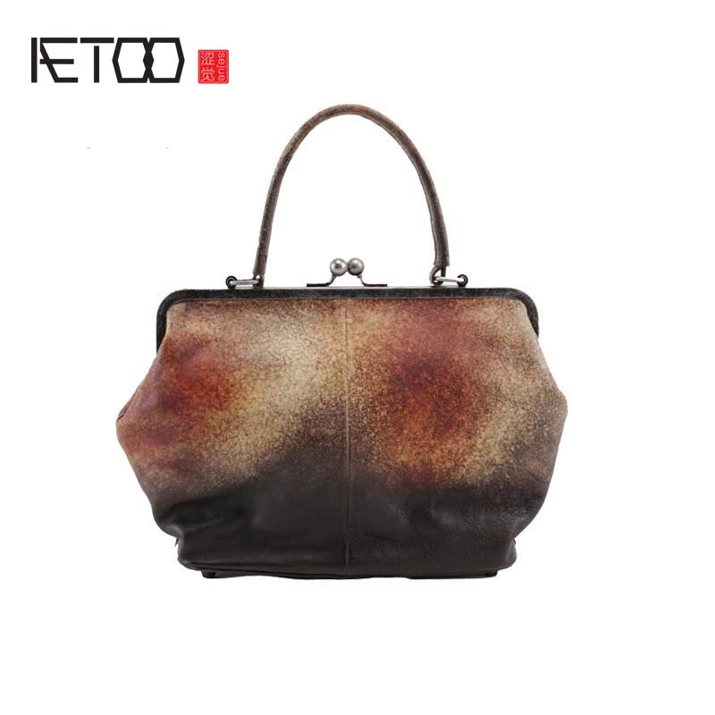 AETOO 2018 New handbag Simple Handmade Small side Shoulder Messenger Bag Wild Leather Personality bag beep brand handbag 2018 new leather wild messenger bag simple handbag shoulder bag women bag