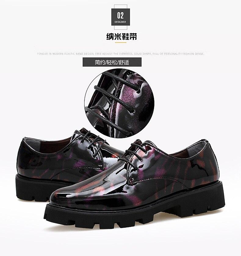 Para Suela Zapatos Gruesa Fiesta Combinar Formal Barato Mujer Baile Hombre  Color Brillante De Caballeros Derby ... 449799d3f06