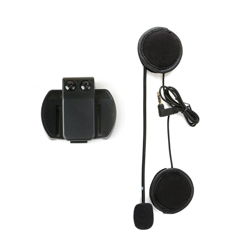 Vnetphone 3,5mm, auriculares con micrófono y Clip para casco, intercomunicador para V4 V6, interfono Bluetooth para motocicleta