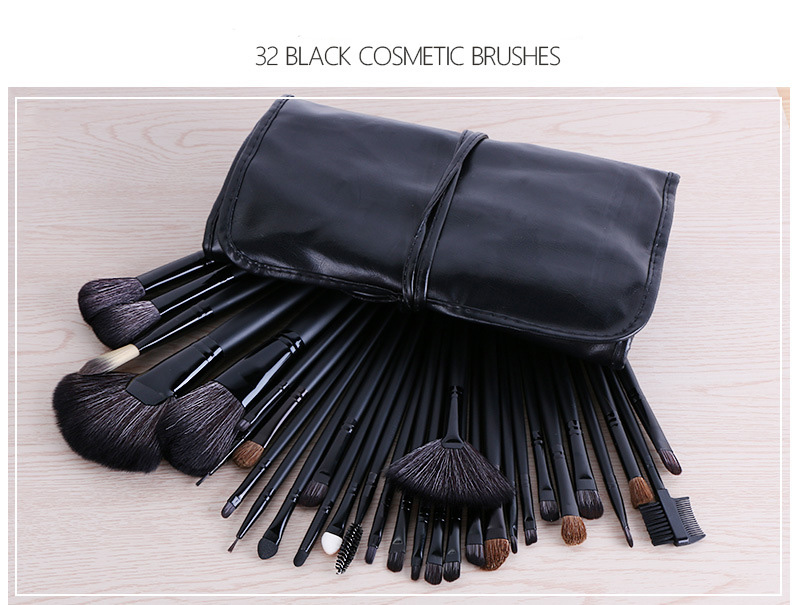 MODOAO 32Pcs Makeup Brushes Professional Soft Cosmetics Make Up Brush Set Foundation Brush Beauty Tools Maquillaje Kits professional bullet style cosmetic make up foundation soft brush golden white
