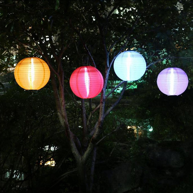 Hot Air Balloon 12 30cm Festive Lantern Led Solar Paper Lanterns For Wedding Festival Party Holiday Garden Decoration