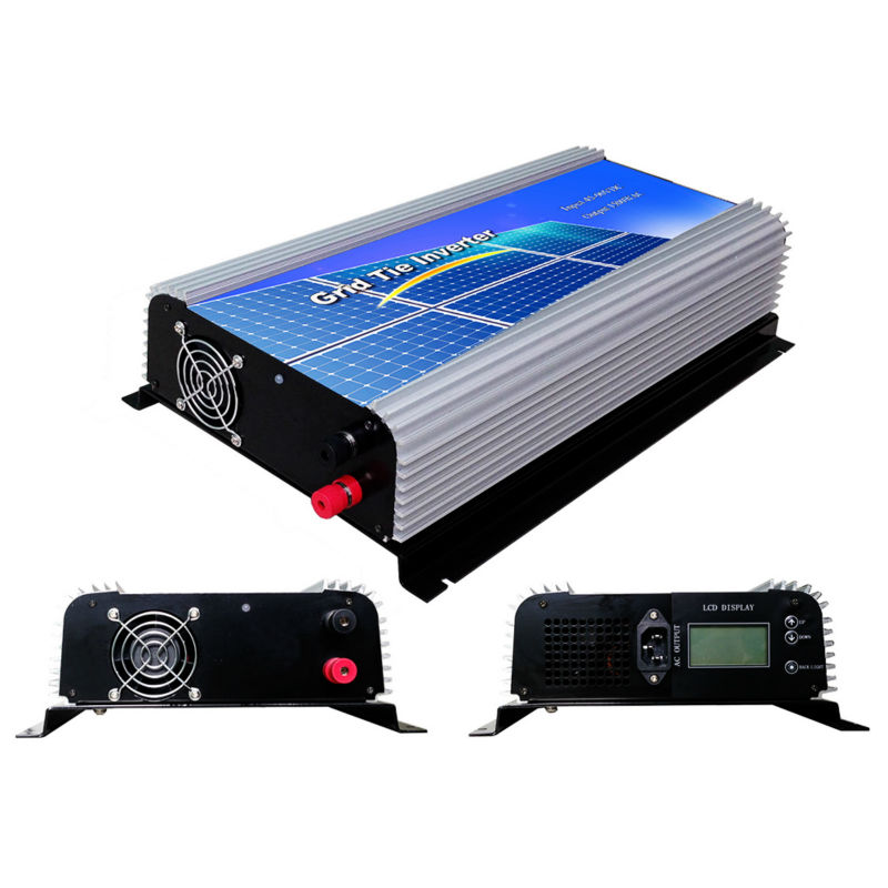 MAYLAR@ 1500W Grid Tie Power Inverter Pure Sine Wave Inverter 45-90V DC to AC 110VAC Solar Grid Tie Inverter with LCD Display 1kw solar grid tie inverter 12v dc to ac 230v pure sine wave power pv converter