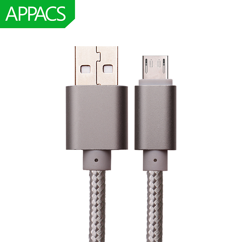 APPACS Micro USB Cable Fast Charging Mobile Phone Andriod Cable Adapter 5V2A 1m 2m 3m USB Data Charger Cable for Samsung HTC LG