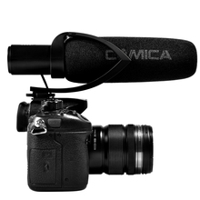 лучшая цена Commlite CoMica Electrit Super-Cardioid Directional Condenser Shotgun Video Interview Microphone Super Anti-interference