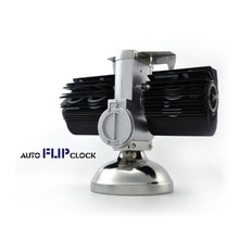 Black Retro Flip Down font b Clock b font Internal Gear Operated Flip Home font b