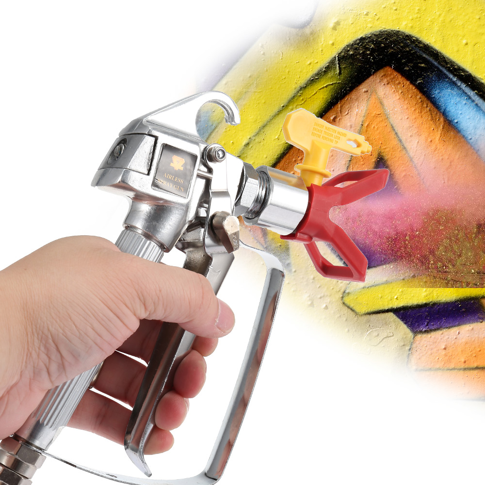 цена на 3600PSI High Pressure Airless Paint Spray Gun + Spray Tip + Nozzle Guard for Wagner Titan Pump Sprayer Spraying Machine