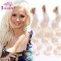 Grau AAAAAA TOP 10 '' - 26 '' extensão do cabelo virgem brasileiro U ponta de queratina ponta extensões de cabelo Platinum Blonde # 60