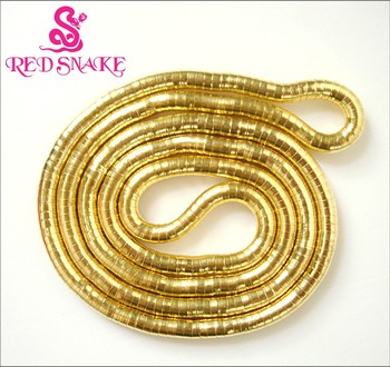 RED SNAKE  Cheap 2017 Jewelry Wholesale Thick 6mm Stainless Steel Bendy Gold-color Snake Necklace Chain