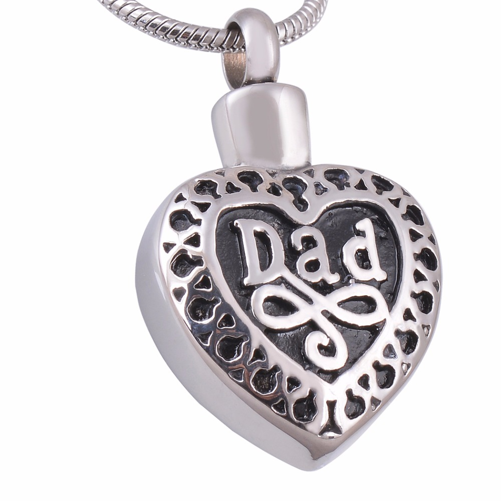 personalized cremation jewelry dad in heart memorial