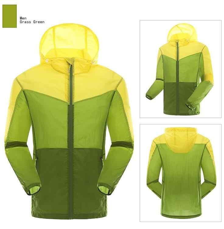 Открытый Летний Пеший Туризм с капюшоном, защищающая от солнца защитная кожа куртка Сверхлегкий пуховик ультра-тонкая дышащая курточка для велоспорта и отдыха на природе, с крышкой в виде Для мужчин спортивное пальто