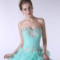 Hot Turquoise Blue Quinceanera Dress 2018 Ball Gowns Sweetheart Off Shoulder Beaded Appliques Vestidos De 15 Anos Curto