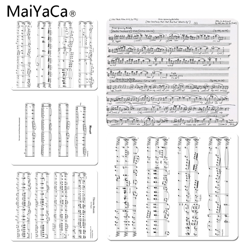 MaiYaCa Music score Ultra Thin Pattern Large Mouse pad PC Computer mat Size for 25X29cm Gaming Mousepads