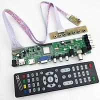 DS.D3663LUA.A81 DVB T2 DVB T DVB C digital TV LCD driver board 15 32inch Universal LCD TV Board+7 key board 36637