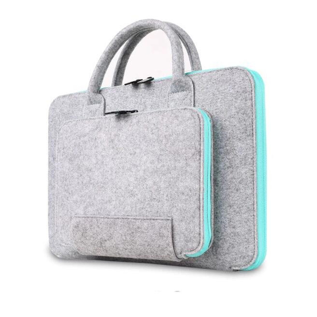 2016 New Felt Universal Laptop Bag Notebook Case Briefcase Handlebag Pouch For Macbook Air Pro Retina Men Women
