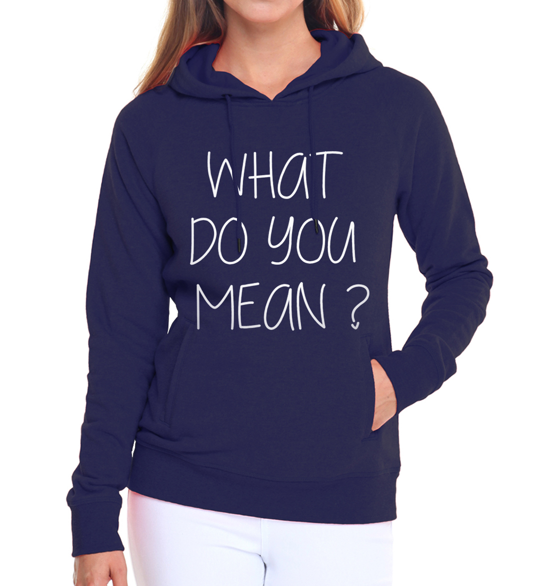 hip-hop sweatshirts 2019 fleece style funny hooded What Do You Mean letters print women hoodies harajuku pink brand tracksuits