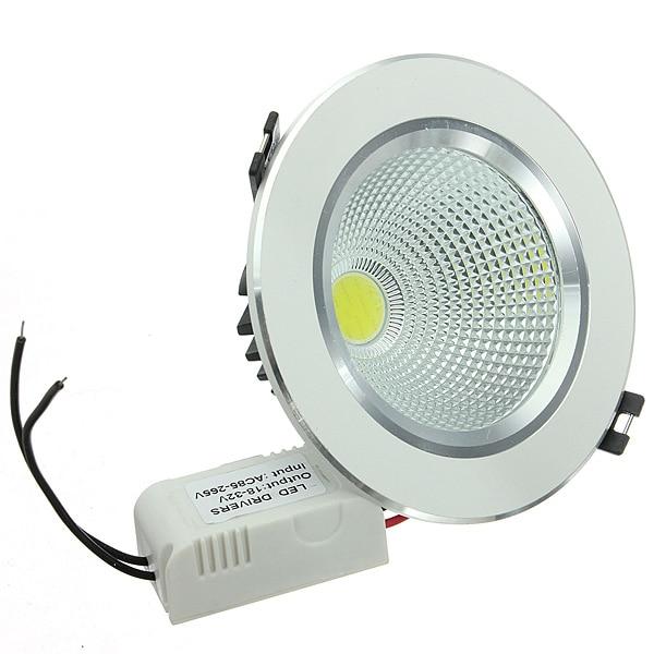 AC85V-265V 9W COB LED Light Ceiling light Round type Panel Lights Shell Belt Drive Pure White