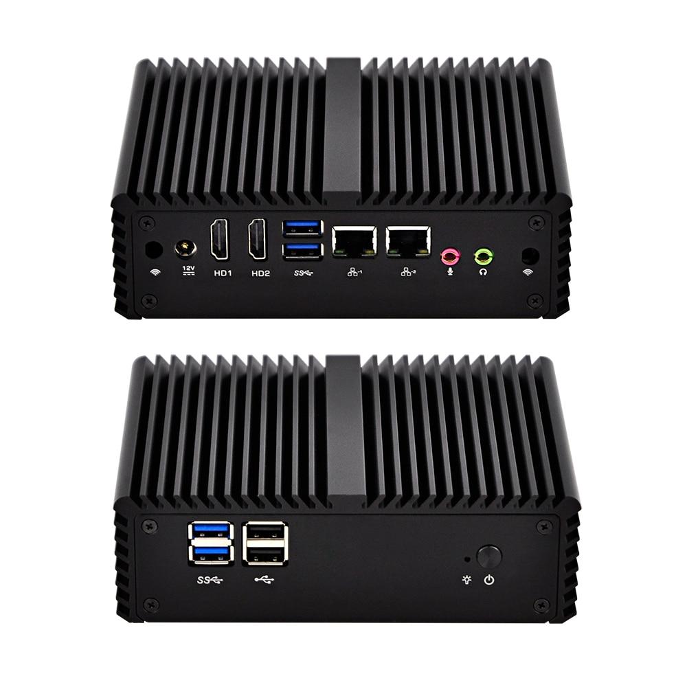 Lüfterlose Dual Nic Micro PC Q450S mit Core i5-4200U Prozessor 3 Mt ...