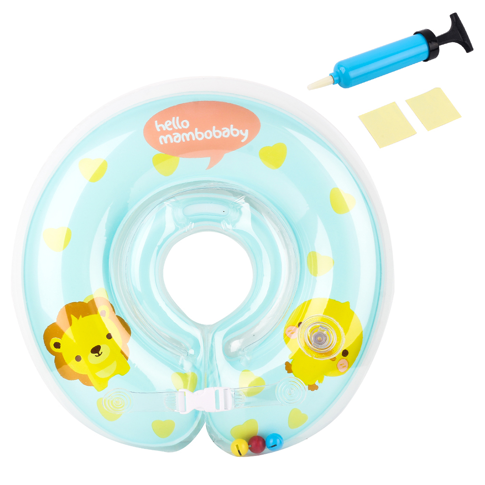 Baby Neck Float Swimming Newborn Baby Swimming Neck Ring With Pump Gift Mattress Cartoon Pool Inflatable Toy For 0-24Month Baby^