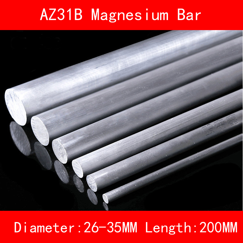 Diameter 26mm 30mm 35mm Length 200mm AZ31B Magnesium Bar Mg Metal rod diameter 40mm 50mm 60mm length 200mm az31d magnesium bar mg metal rod for diy lab industrial