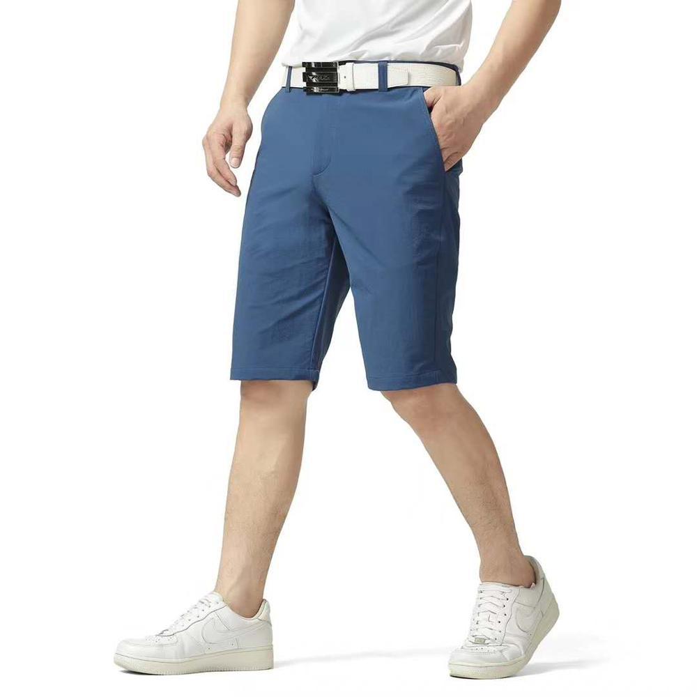 2019 été Golf Sportswear hommes genou longueur Shorts respirant séchage rapide hommes couleur unie sport Golf Shorts 30-40