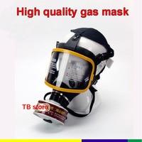 Hohe qualität Atemschutz gas maske Silikon abdeckung PC spiegel High definition gas maske Gewinde 4 0 interface Universal gas maske-in Masken aus Sicherheit und Schutz bei