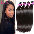 Peruvian Virgn Hair Straight 4 Bundles Peruvian Hair Weave Bundles Straight Human Hair Extension Aliexpress UK Color Light Brown