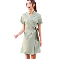 2019 Summer Fashion Design SPA Clothing Beauty Salon Work Uniforms Hospital V Neck Short Sleeve Nurse Uniform