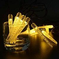 ใหม่20 Ledโคมไฟพลังงานแสงอาทิตย์สตริงไฟข้าวโพดledกระพริบตานางฟ้าแสงสำหรับงานแต่งงานห้องนอนค...