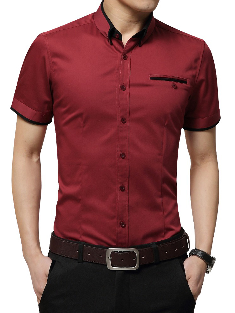 Tuxedo Shirt Short-Sleeves Men's Big-Size 5XL Summer Turn-Down-Collar Brand New-Arrival