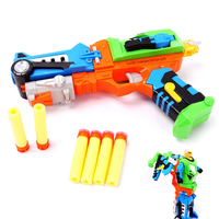 Outdoor Transform Robot Gun Toy Pistol Sniper Rifle Plastic Gun Arme Arma Toys Children Gift Nerf Toy Gun With 5 Pcs Soft Bullet