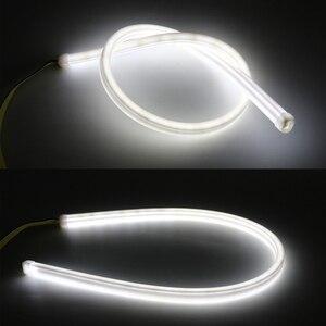 2x 45/60 см автомобильная светодиодная гибкая белая полоса дневного света для Volvo V40 XC60 S60 S80 XC90 Mitsubishi Lancer ASX Mazda CX-5 6