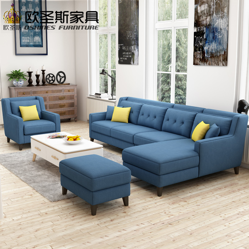 Us 78 96 6 Off New Arrival American Style Simple Latest Design Sectional L Shaped Corner Livingroom Furniture Fabric Sofa Set Prices List F76f In