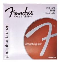 Fender 60xl bronce fosforado para guitarra acústica, Luz Extra, 10-48
