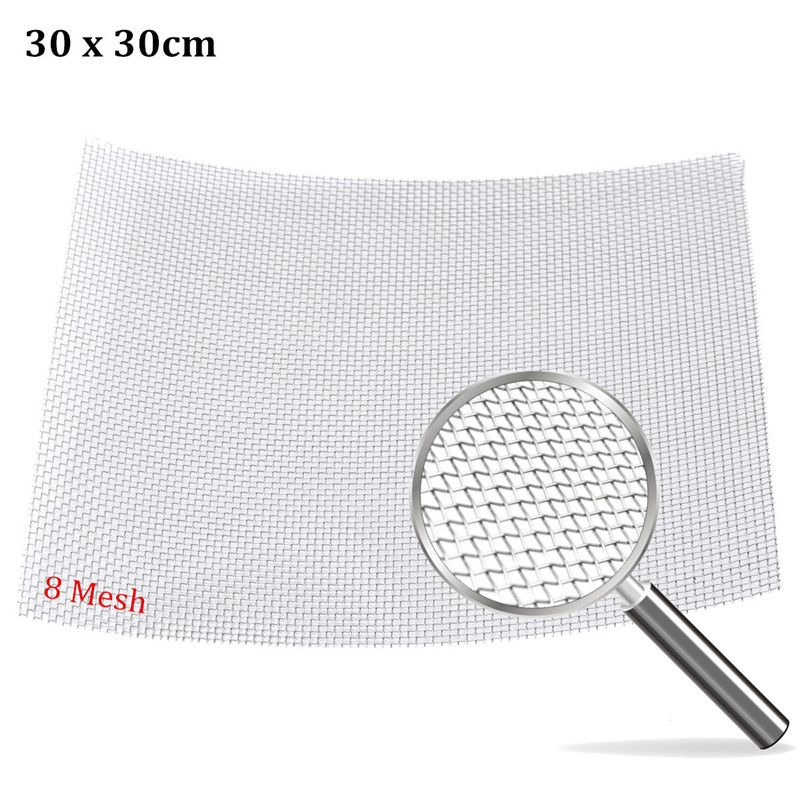 Newest 304 Stainless Steel 8 Mesh Filter Water Oil Industrial Filtration Woven Wire 1 roll stainless steel woven wire cloth screen filter 120 mesh 125 micron 30x90cm with corrosion resistance