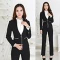 Formal Professional Office Uniform Designs Women Suits with Pant and Blazer Sets XXXL Plus Size Winter 2015 New Ladies Pantsuits