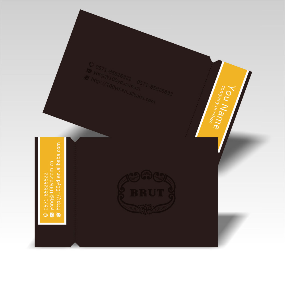 Design of discount card - 2016 Big Discount Price Brown Color Custom Business Cards Die Cutting Special Shape 350gsm Art Paper Print Name Card Visit Card