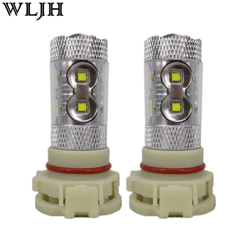 WLJH 2x Weiß Auto LED Lichter EU H16 5202 PS24W 60 watt LED Chip Objektiv DRL Fahren Nebel Lampe Birne licht 1000lm 10 v-30 v