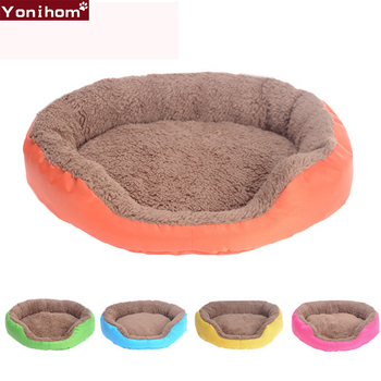 Cat Bed Dog Mat Washable Candy Colors Pet Cat Bed House Soft Dog Mats Home Bed for Puppy Cat Bedding Set Dog Blanket Fleece Pet
