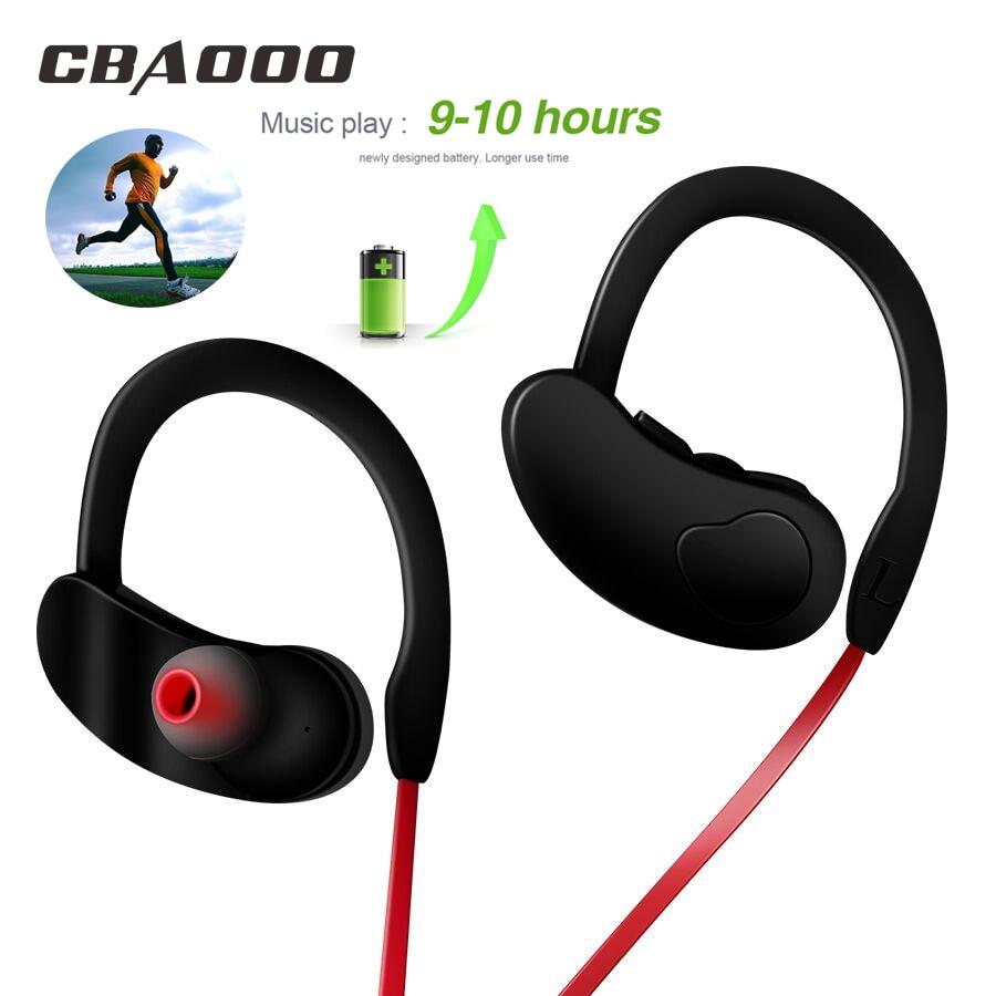 цена на CBAOOO K100 Wireless Bluetooth Earphone Headphone Sport Bass Stereo Headset Wireless Earbuds with Mic for Phone iPhone xiaomi