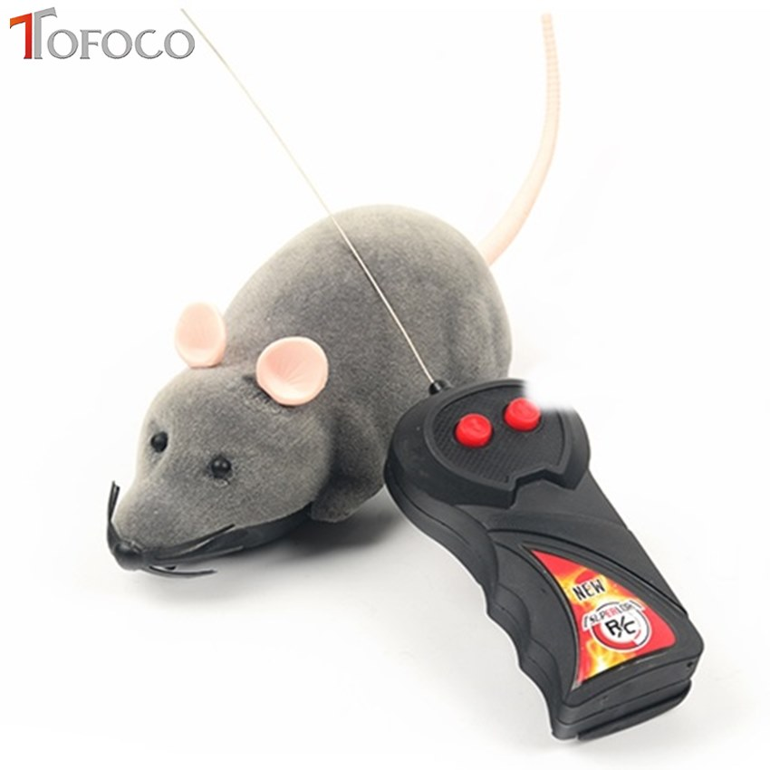 TOFOCO Wireless Remote Control Rat Mouse Toys Novelty Funny RC Interesting Eletric Tricky for Boys and Girls