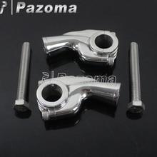 1 Pair Motorcycles Handlebar Risers Aluminum Universal For 22.2mm 7/8 Bar Clamps Motorbike