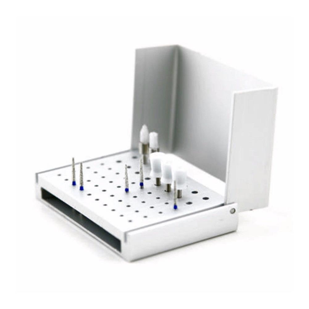 1 Pc Aluminum Dental Disinfection Box Autoclave 58 Hole Dental Bur Holder Stand Autoclave Sterilization Instrument Dental  PAK55