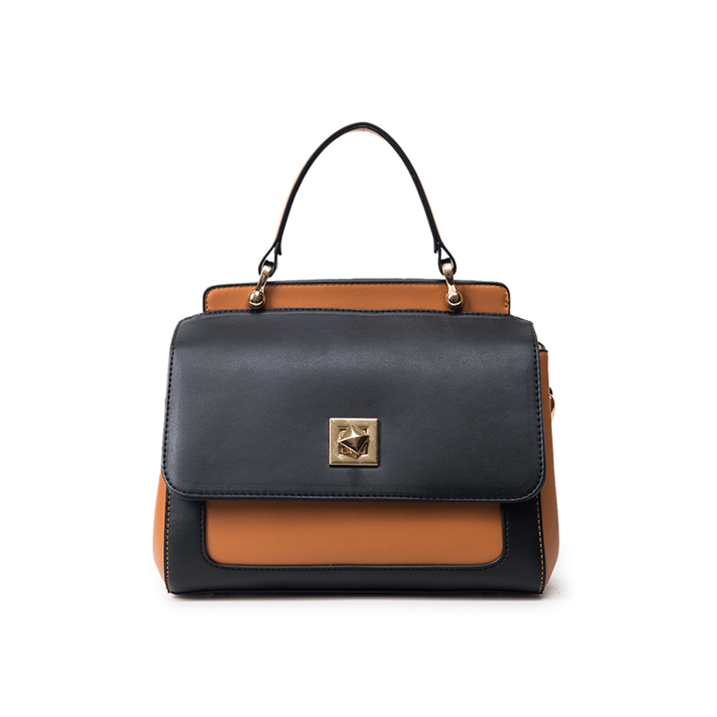 ФОТО New 2016 women's fashion Contrast color handbag European and American style brand vintage bag Well-known designers messenger bag