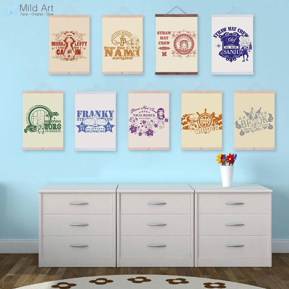 Modern Japanese Pop Anime One Piece Luffy  Poster Nordic Kids Boy Room Wall Art Print Picture Home Decor Canvas Painting No Fram
