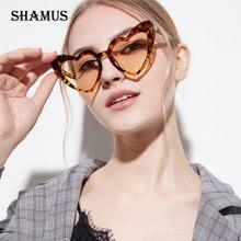 SHAMUS Em Forma de Coração Óculos De Sol Das Mulheres 2018 de Alta  Qualidade Óculos De Sol lense Rosa Shades Eyewear Óculos Mulh. 964f51a0b4