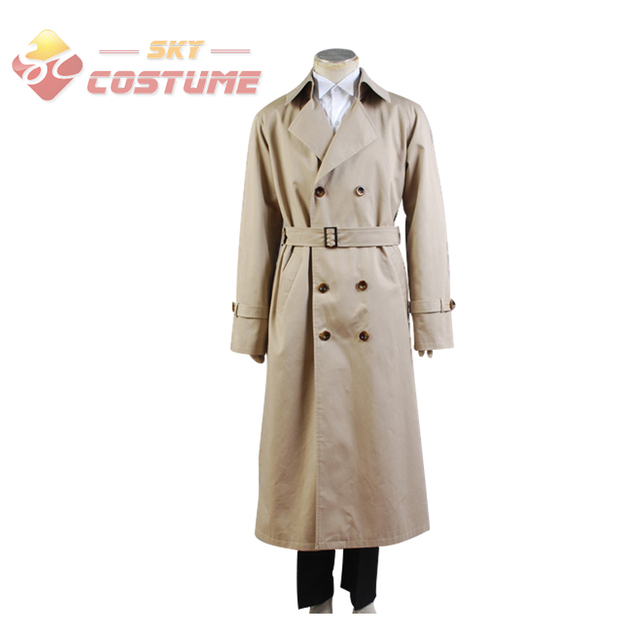 Original Supernatural Castiel Twill Trench Coat Halloween Anime Cosplay Costume For Adult Men  sc 1 st  AliExpress.com & Original Supernatural Castiel Twill Trench Coat Halloween Anime ...